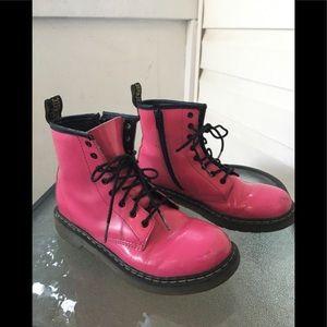 """Big kids' pink patent leather """"Delaney""""Dr. Martens"""